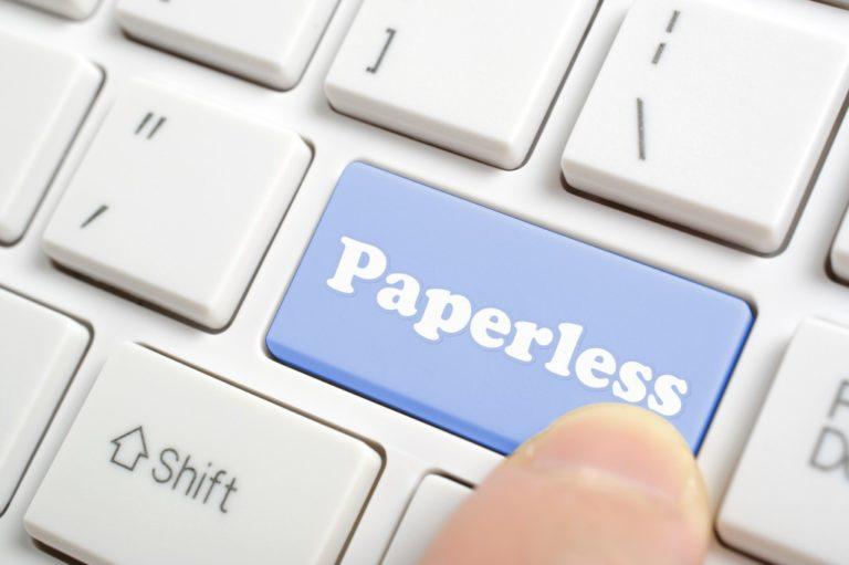 Paperless key button