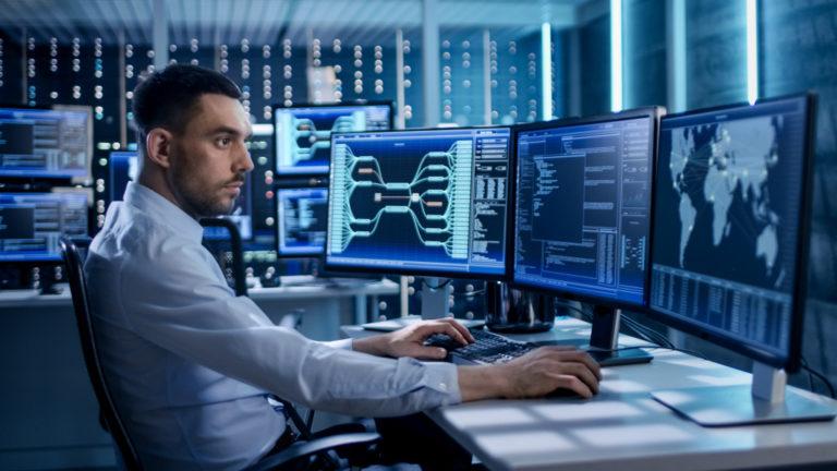 IT specialist working on cybersecurity