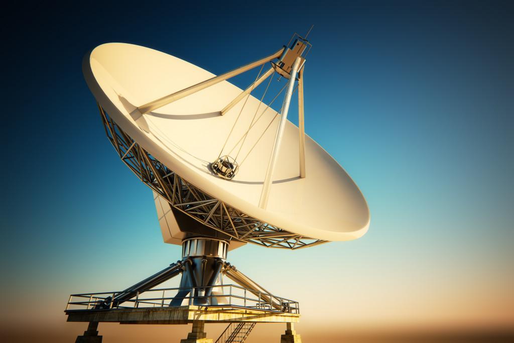 huge satellite dish